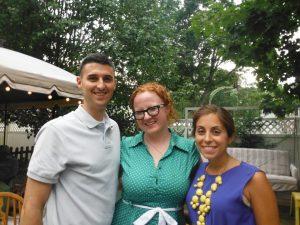 My cousin Dan, myself, and my fitness hero/inspiration, Dan's wife, Nicole.
